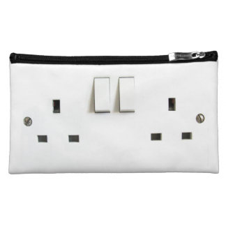 Funny Photo of UK Electrical Outlet Makeup Bag
