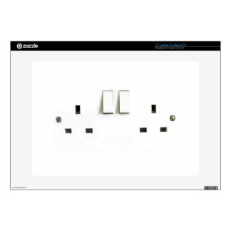 "Funny Photo of UK Electrical Outlet Skins For 15"" Laptops"