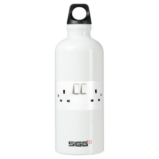 Funny Photo of UK Electrical Outlet Water Bottle