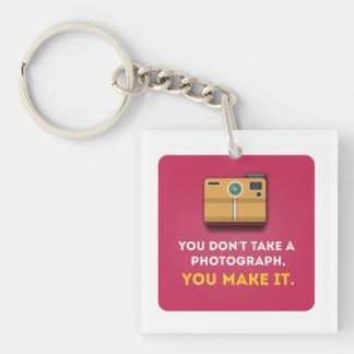 Funny Photograph Quote Keychain