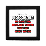Funny Photographer T-Shirts and Gifts Gift Boxes