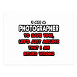 Funny Photographer T-Shirts and Gifts Postcards