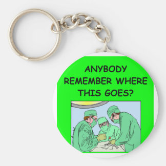funny physician joke basic round button keychain