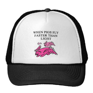 funny physics joke trucker hat