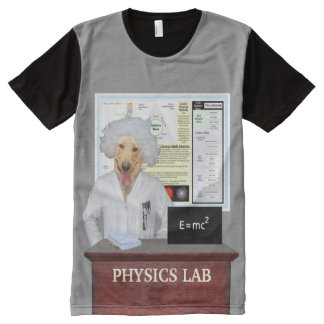 Funny Physics Lab All-Over Print T-shirt