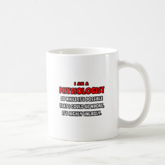 Funny Physiologist .. Highly Unlikely Classic White Coffee Mug