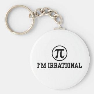 Funny Pi Basic Round Button Keychain