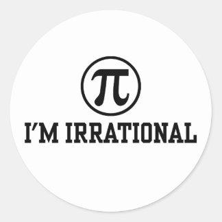 Funny Pi Classic Round Sticker