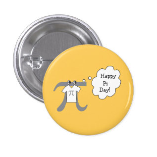 Funny Pi Guy - Happy Pi Day Pinback Button at Zazzle