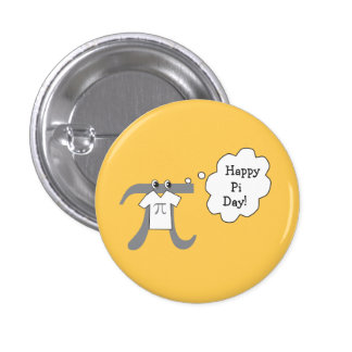 Funny Pi Guy - Happy Pi Day Pinback Button