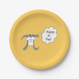 Funny Pi Guy - Happy Pi Day 7 Inch Paper Plate