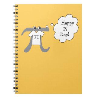 Funny Pi Guy - Happy Pi Day Spiral Notebook