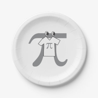 Funny Pi Guy 7 Inch Paper Plate