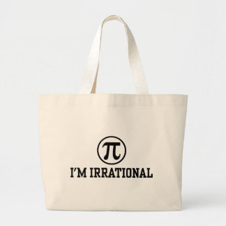 Funny Pi Large Tote Bag