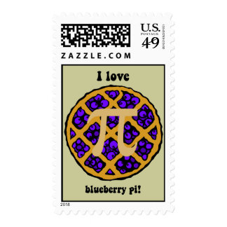 Funny pi stamps