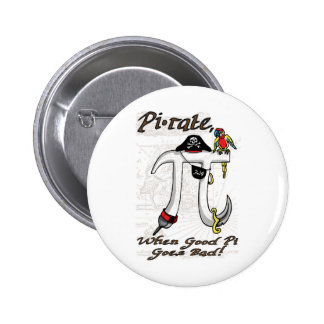 Funny Pi rate Pi Day Humor Pinback Buttons