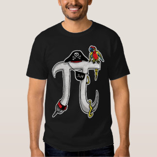 Funny Pi rate Pi Day Humor Tee Shirt
