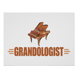 Funny Piano Music Poster