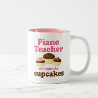Funny Piano Teacher Two-Tone Coffee Mug