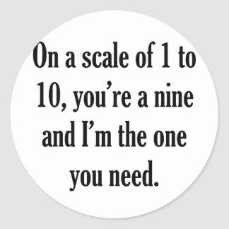 Funny Pick-up Line Round Stickers