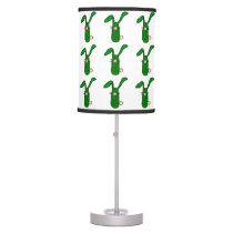 Funny Pickle Bunny Rabbit Art Table Lamp