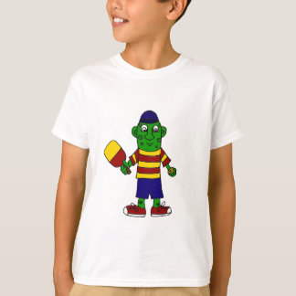 Funny Pickle Holding Pickleball Paddle and Ball T-Shirt