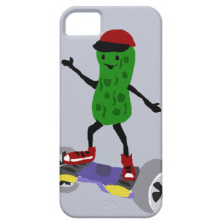 Funny Pickle is on Motorized Skateboard iPhone SE/5/5s Case