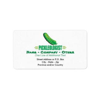 Funny Pickle Label