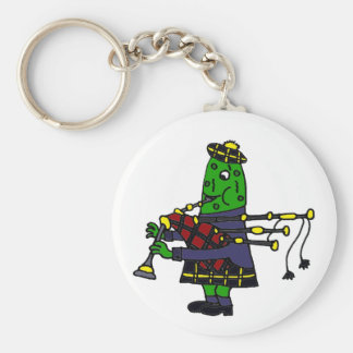 Funny Pickle Playing Bagpipes Original Keychain