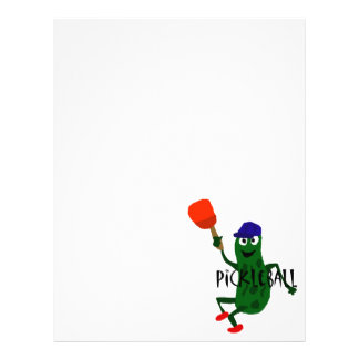 Funny Pickle Playing Pickleball Letterhead