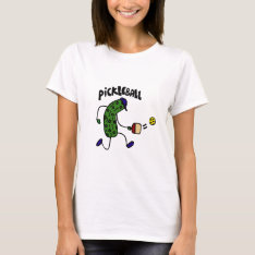 Funny Pickle Playing Pickleball T-shirt at Zazzle