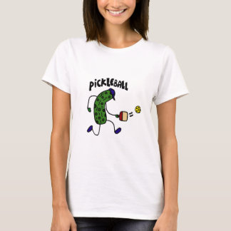 Funny Pickle Playing Pickleball T-Shirt