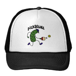 Funny Pickle Playing Pickleball Trucker Hat