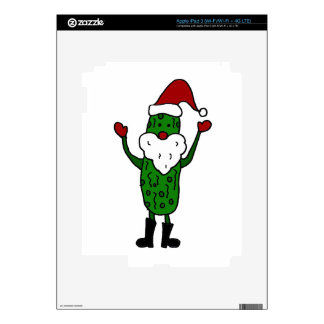 Funny Pickle Santa Claus Christmas Design Decals For iPad 3