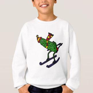 Funny Pickle Skiing Cartoon Sweatshirt