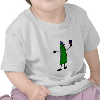 Funny Pickle with Paddle Pickleball Character Shirts