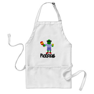 Funny Pickle with Pickleball Paddle Adult Apron