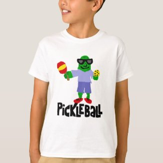 Funny Pickle with Pickleball Paddle