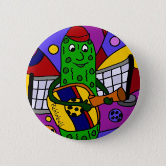 Funny Pickleball Abstract Art Original Button