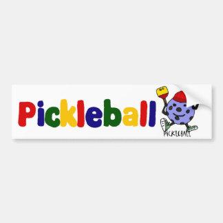 Funny Pickleball Ball Character Cartoon Bumper Sticker