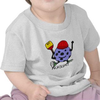 Funny Pickleball Ball Character Cartoon Tee Shirt