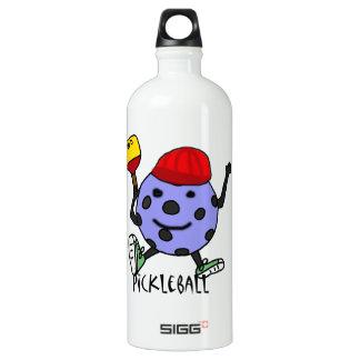Funny Pickleball Ball Character Cartoon Water Bottle