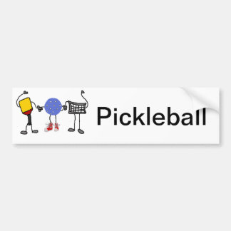Funny Pickleball Cartoon Characters Bumper Sticker