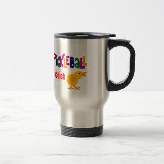 Funny Pickleball Chick Art 15 Oz Stainless Steel Travel Mug