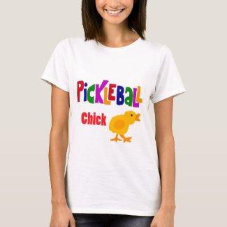 Funny Pickleball Chick Art