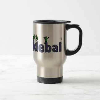 Funny Pickleball Letters with Pickles 15 Oz Stainless Steel Travel Mug