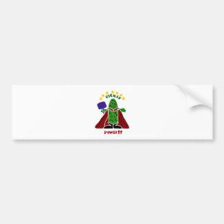 Funny Pickleball Super Hero Pickle Bumper Sticker