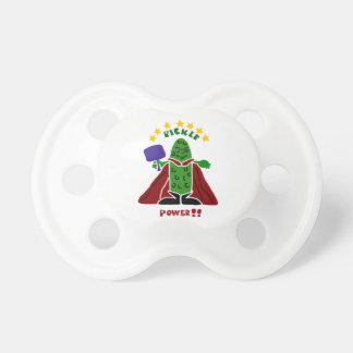 Funny Pickleball Super Hero Pickle BooginHead Pacifier