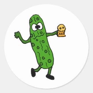 Funny Pickled Pickle Sticker