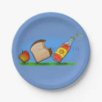 Funny picnic ants cartoon picture paper plates